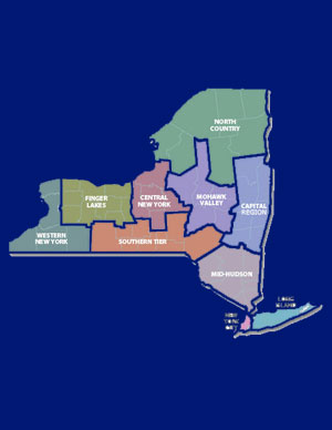 NYS Regional Economic Development Council Awards by Region, 2011-2013