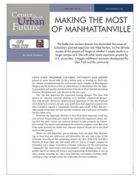 Making the Most of Manhattanville