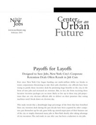 Payoffs for Layoffs