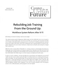 Rebuilding Job Training from the Ground Up