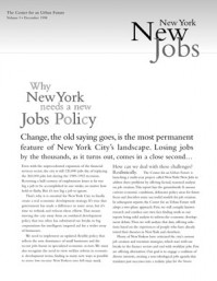 Why New York Needs a New Jobs Policy