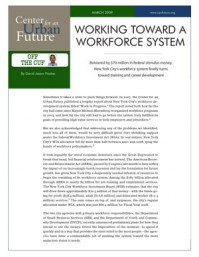 Working Toward A Workforce System