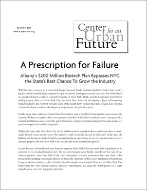 A Prescription for Failure